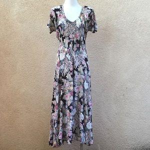 Vintage 90's 'Nostalgia' Floral Maxi Dress S/M